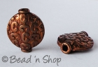 Oxidized Copper Bead in Round Flattened Shape