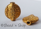 Gold Plated Copper Bead in Round Flattened Shape