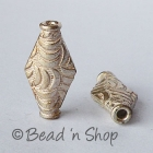 Silver Plated Copper Bead in Cylindrical Shape
