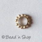 Silver-Plated Copper Bead with 4mm Hole Size