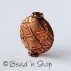Copper Bead in Flattened Shape