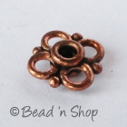 Flower-shaped Oxidized Copper Bead