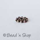 Flat-round Silver Plated Oxidized Copper Bead