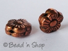 Flowery Oxidized Copper Bead