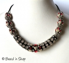 Black Maruti Necklace with Rhinestones and Accessories