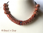 Shinning Brown Maruti Necklace with Mirror Chips and Metal Rings