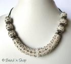 White Shinning Maruti Necklace Studded with Rhinestones