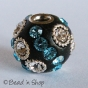 50pc Bead Studded with Wire Rings & Rhinestones