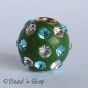 50pc Round Bead Studded with Rhinestones