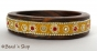 1pc Bangle Studded with Yellow Grains & Accessories