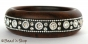 1pc Black Colored Bangle Embedded with Rhinestones & Accessories
