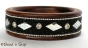 1pc Black Colored Bangle Studded with Mirrors & Grains