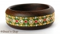 1pc Green Bangle Studded with Metal Accessories & Rhinestones