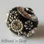 25pc Black Beads Studded with Silver Plated Accessories