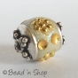 25pc Off White Cylindrical Glitter Bead Studded with Accessories