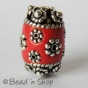 25pc Red Bead Studded with Metal Accessories