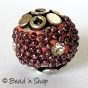 25 pc Round Beads Studded with Grain s & Rhinestones