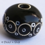 50pc Black Egg Shaped Bead