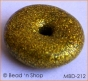 50pc Shining Golden Ring Bead