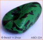 50pc Green with Black Spots Unusual-shaped Bead
