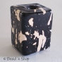 50pc Black & White Square Bead