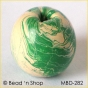 50pc Green & White Round Bead