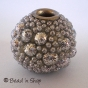50pc Silver Color Bead Studded with Grains