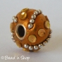 50pc Shinning Brown Pandora Bead Studded with Metal Chain & Accessories