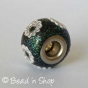 50pc Glittering Pandora Bead Studded with Flowers