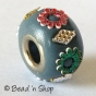 50pc Blue Color Euro Style Bead Studded with  Accessories