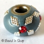 50pc Pandora Bead Studded with Red Rhinestones & Accessories