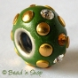 50pc Green Euro Style Bead Studded with Rhinestones & Accessories