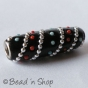50pc Black Bead Studded with Metal Chains & Color Grains