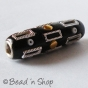 50pc Black Cylindrical Bead Studded with Accessories