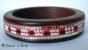 1pc Bangle Embeded with Seed Beads & Mirrors