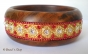 1pc Bangle Studded with Metal Accessories & Red Rhinestones