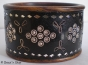 1pc Black Bangle Studded with Rhinestones, Mirrors & Metal Wire