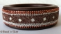 1pc Bangle Studded with Brown Color Grains, Mirrors & Chains
