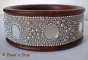 1pc Bangle Studded with Round Mirrors & Grains