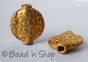 100gm Gold Plated Copper Bead in Round Flattened Shape