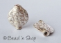 100gm Silver Plated Copper Bead in Round Flattened Shape