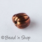 100gm Heart-shaped Oxidized Copper Bead