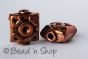 100gm Oxidized Square-shaped Copper Bead