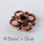 100gm Flower-shaped Oxidized Copper Bead