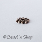 100gm Flat-round Silver Plated Oxidized Copper Bead
