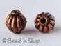 100gm Round Striped Copper Oxidized Bead