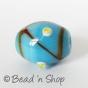 100 Gram. Blue Color Fancy Glass Beads in Oval Shape
