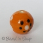 100 Gram.Orange Color Round Fancy Glass Beads