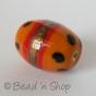 100 Gram. Orange Color Fancy Glass Beads in Oval Shape