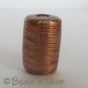 100 Gram. Golden Brown Color Cylindrical Fancy Glass Beads